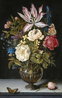 Painting - Flower-piece by Ambrosius Bosschaert