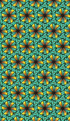 Digital Art - Flower Pinwheels Design by Becky Herrera