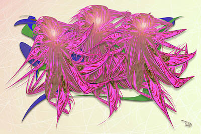 Wall Art - Digital Art - Flower Plant by Warren Lynn