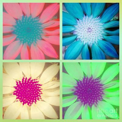 Digital Art - Flower Pop Collage by Rachel Hannah