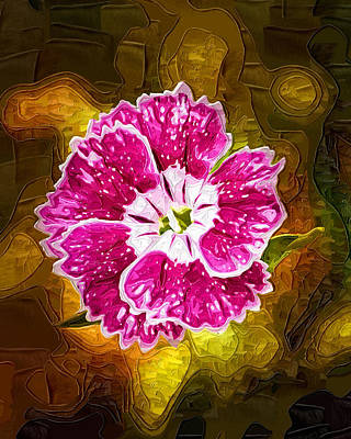 Flower Pop Art Print by Paul Bartoszek