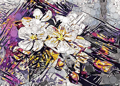 Mixed Media - Flower Pop by Susan Maxwell Schmidt
