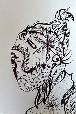 Drawing - Flower Portrait by Steven Stutz