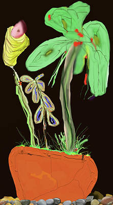 Digital Art - Flower Pot 1 by SC Heffner