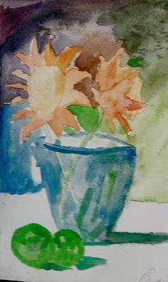 Painting - Flower Pot 2 by Jesus Nicolas Castanon
