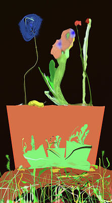 Digital Art - Flower Pot 3 by SC Heffner