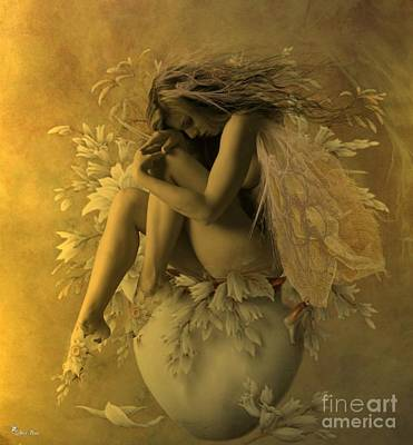 Digital Art - Flower Pot Fairy by Ali Oppy