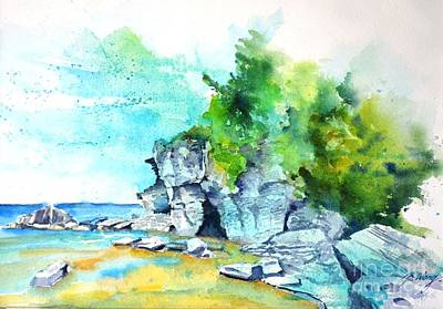 Painting - Flower Pot Island by Betty M M Wong