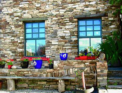 Photograph - Flower Pots At Corcgreggan's Mill by Stephanie Moore