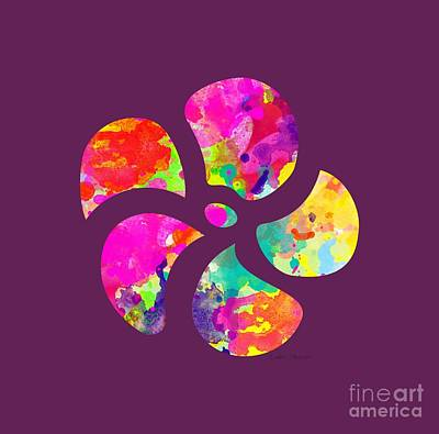 Digital Art - Flower Power 1 - Tee Shirt Design by Debbie Portwood