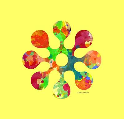 Digital Art - Flower Power 4 - Tee Shirt Design by Debbie Portwood