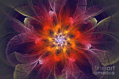 Flower Power Original by Amy M Art Studio