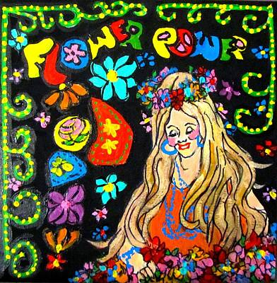 Flower Power Art Print by Barbara O'Toole