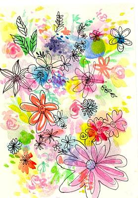 Painting - Flower Power by Chris Hobel