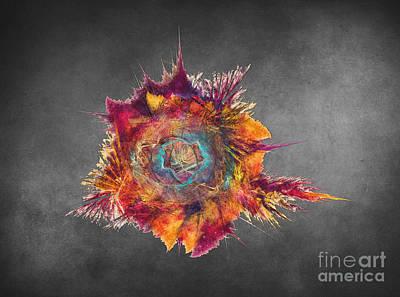 Colored Digital Art - Flower Power Fractal Art by Justyna JBJart