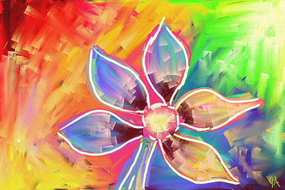 Painting - Flower Power by Jeremy Aiyadurai