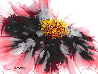 Alcohol Ink Wall Art - Painting - Flower Power by Louise Adams