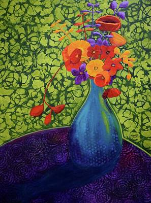 Painting - Flower Power by Nancy Jolley