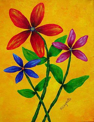 Painting - Flower Power by Pamela Allegretto