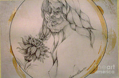Drawing - Flower Power by Rosanne Licciardi