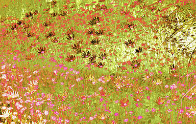 Art Print featuring the digital art Flower Praise by Linde Townsend