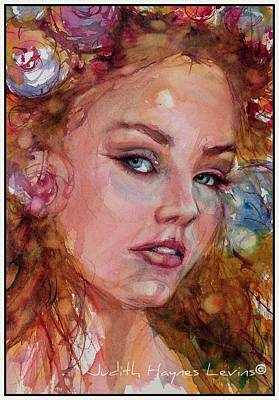 Painting - Flower Princess by Judith Levins