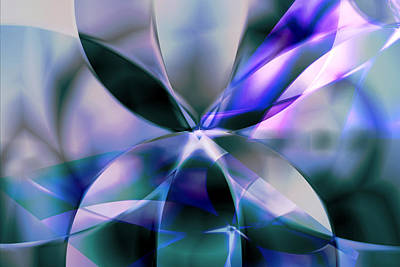 Digital Art - Flower Reflections by Art Di