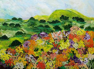 Painting - Flower Ridge by Allan P Friedlander