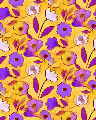 Tapestry - Textile - Flower Riot by Elaine Jackson