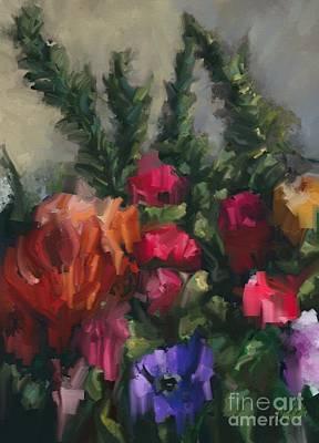 Flower Run Art Print