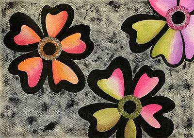 Joy Mixed Media - Flower Series 3 by Graciela Bello