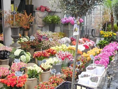 Flower Shop Amsterdam Art Print by Reina Resto