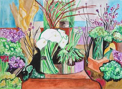 Painting - Flower Shop Fantasy by Esther Newman-Cohen