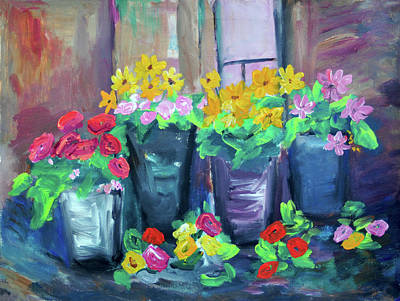 Painting - Flower Shop by Haleh Mahbod