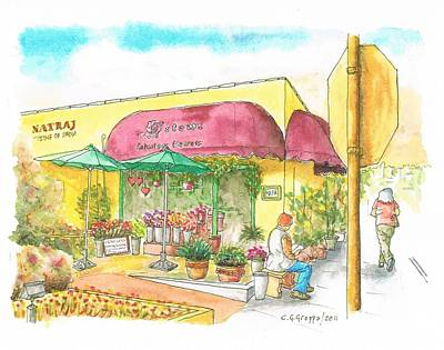 Laguna Beach Painting - Flower Shop In Laguna Beach, California by Carlos G Groppa