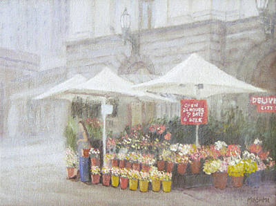 Painting - Flower Shop by Masami Iida