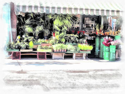 Digital Art - Flower Shop Treasures by Leslie Montgomery