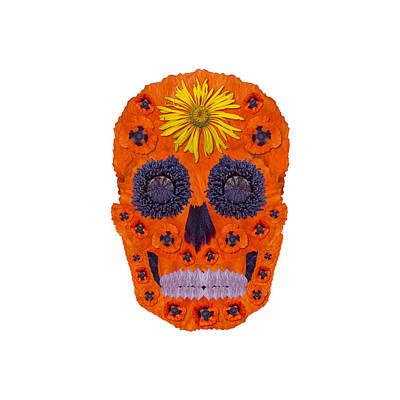 Digital Art - Flower Skull 1 by Agustin Goba
