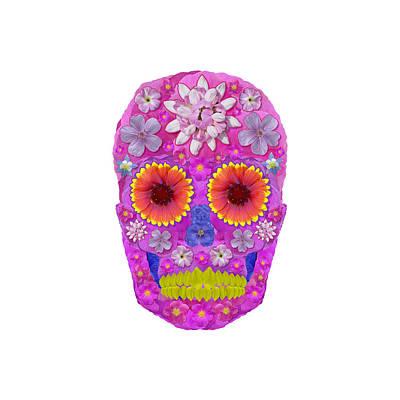 Digital Art - Flower Skull 2 by Agustin Goba