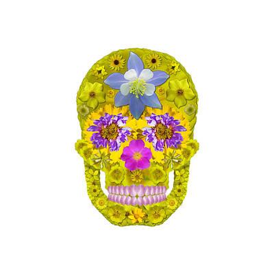 Digital Art - Flower Skull 3 by Agustin Goba