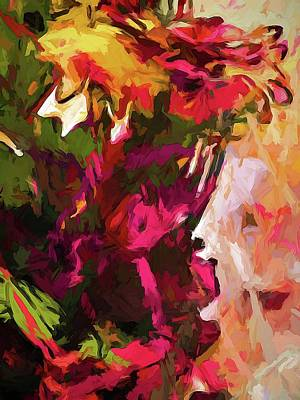 Digital Art - Flower Splash by Jackie VanO