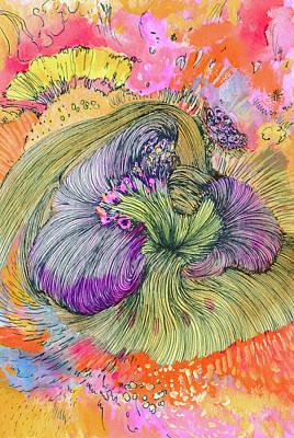 Flower - Ss17dw002 Art Print by Satomi Sugimoto