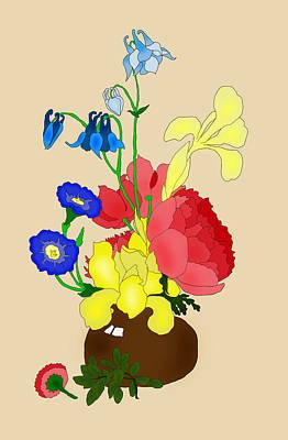 Digital Art - Floral Still Life 1674 by Ruth Moratz
