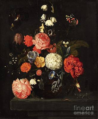 Heem Painting - Flower Still Life by Celestial Images