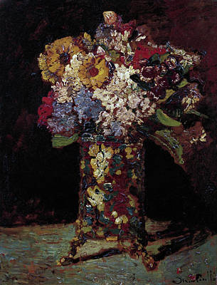Painting - Flower Still Life  by Joseph Thomas Monticelli