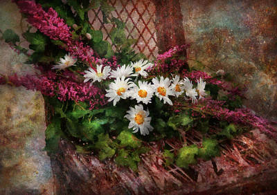 Suburbanscenes Digital Art - Flower - Still - Seat Reserved by Mike Savad