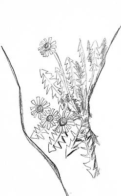 Drawing - Flower Study P by Hae Kim