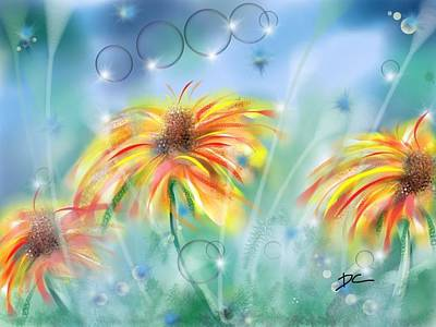 Digital Art - Flower Study Seven by Darren Cannell