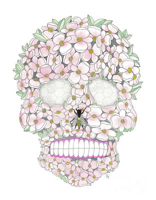 Painting - Flower Sugar Skull by Stephanie Troxell