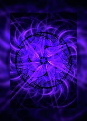 Shower Digital Art - Flower Swirl 2 by Angie Tirado